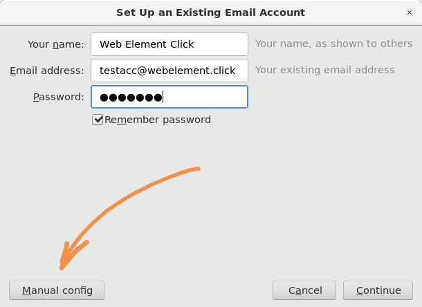 GreenMail with mail client Step 2