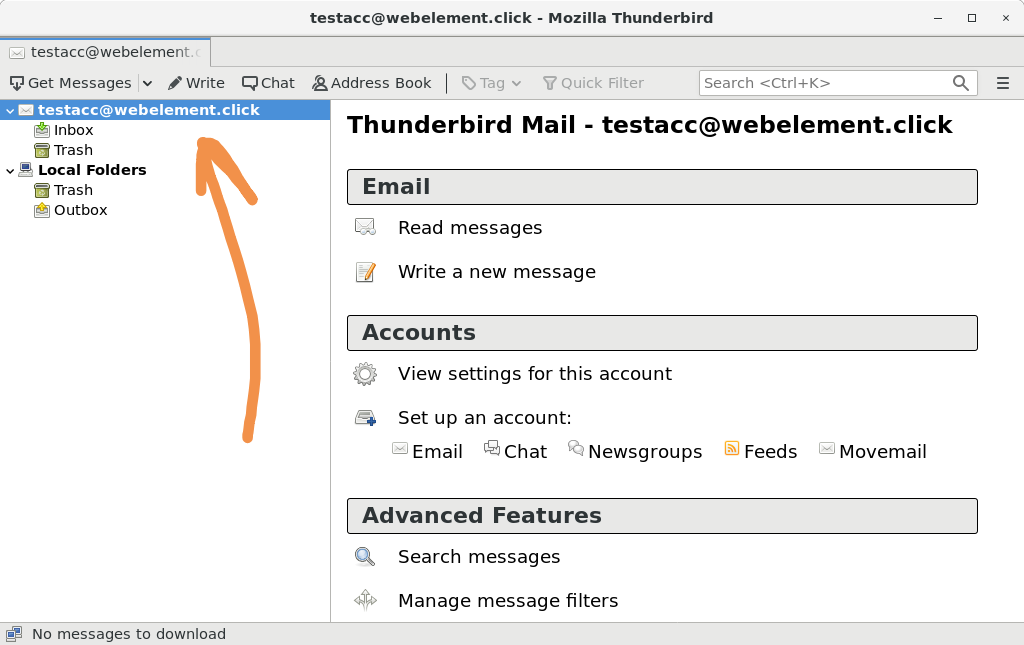 GreenMail with mail client Step 4